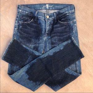 7 for All Mankind Roxanne Tie Dye Skinny Jeans 24